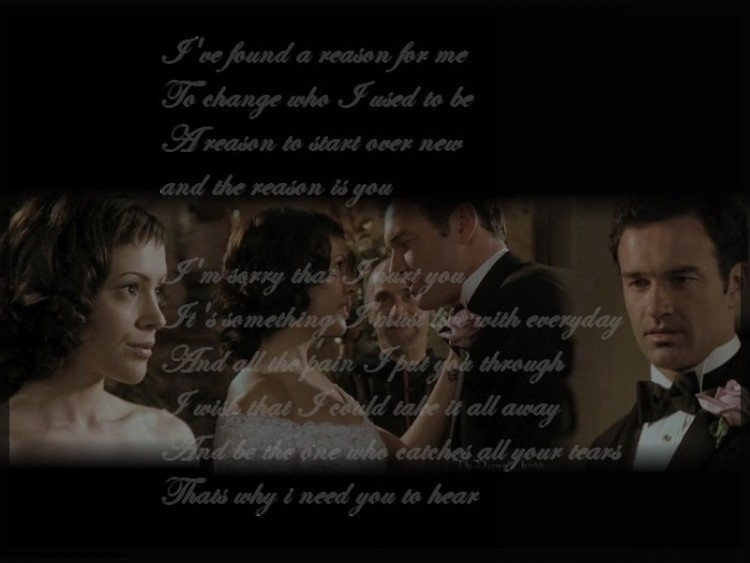 Fonds d'écran Séries TV Charmed Mariage de Cole et Phoebe