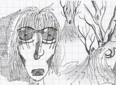 Fonds d'écran Art - Crayon homme perdu ...