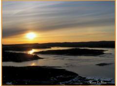 Fonds d'écran Nature Coucher de soleil sur le réservoir