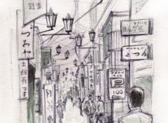 Fonds d'écran Art - Peinture Ruelle Iidabashi