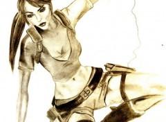 Wallpapers Art - Pencil Lara Croft