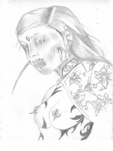 Fonds d'écran Art - Crayon Fantasy - Vampires morte vivante