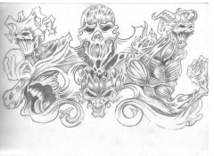 Wallpapers Art - Pencil les 4 demons