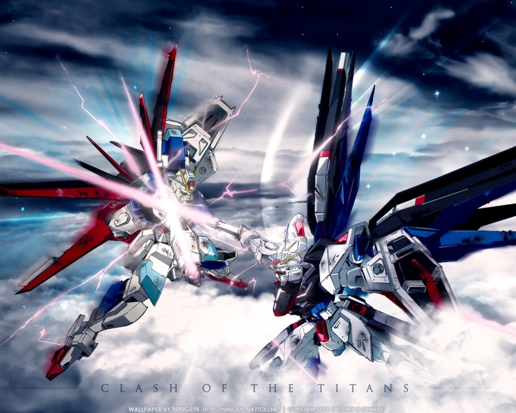 Wallpapers Cartoons Gundam Seed Destiny Clash of the titans