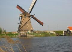 Fonds d'écran Voyages : Europe Moulin à Kinderdjik (Hollande) (3)