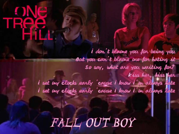 Fonds d'écran Séries TV Les Frères Scott (One Tree Hill) Fall Out Boy