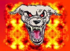 Fonds d'écran Art - Peinture Hell Dog