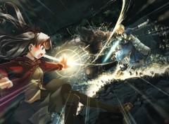 Fonds d'écran Manga Saber Vs Berserker