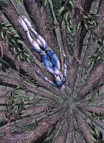 Fonds d'écran Art - Crayon BDs - Science-fiction le grand saut