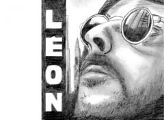 Fonds d'écran Art - Crayon leon