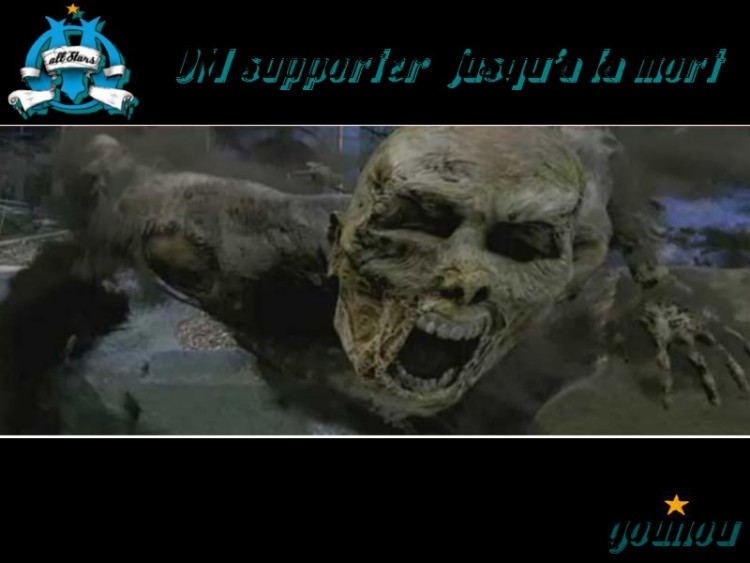 Wallpapers Sports - Leisures Football - OM Supporter jusqu'a la mort