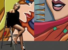 Fonds d'écran Célébrités Femme Peinture murale