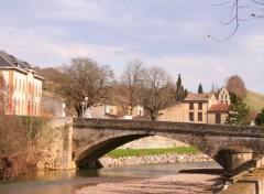 Fonds d'écran Constructions et architecture Sabarat, son pont & sa mairie