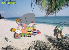Wallpapers Cartoons Bob et ses amis à la plage