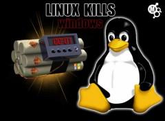 Fonds d'écran Informatique Linux KILLS Windows..