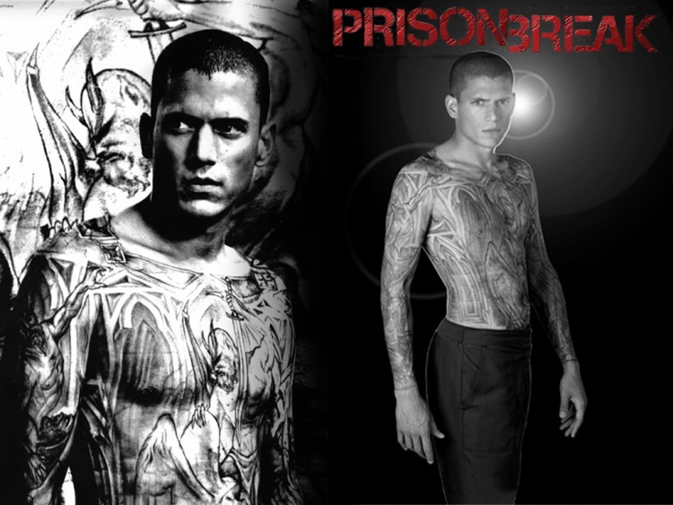 Fonds d'écran Séries TV Prison Break PB Michael tatoo