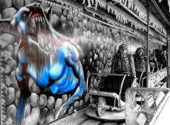 Fonds d'écran Art - Numérique Train Fantôme