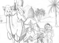 Fonds d'écran Art - Crayon sahara