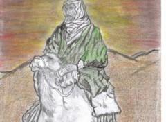 Fonds d'écran Art - Crayon sahara arabe