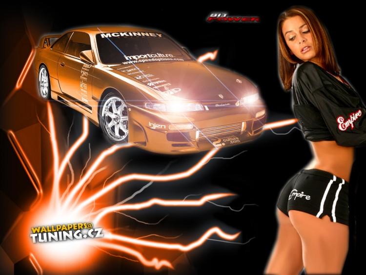 Wallpapers Cars Girls and cars orange girl