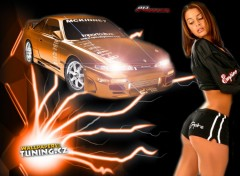 Wallpapers Cars orange girl