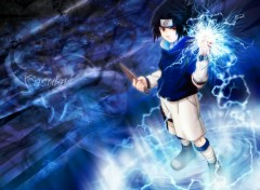 Wallpapers Manga sasuke in action