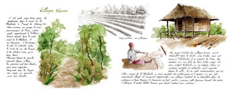 Fonds d'écran Art - Peinture Scènes de vie Village Karen
