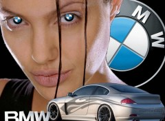 Wallpapers Cars Angelina Jolie + BMW