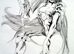 Fonds d'écran Art - Crayon witchblade II