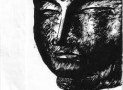 Wallpapers Art - Painting tête du Bouddha géant de Nara (Yakushi Nyorai)