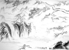 Wallpapers Art - Pencil Chinese Landscape