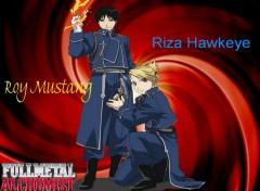 Fonds d'écran Manga Roy Mustang & Riza Hawkeye