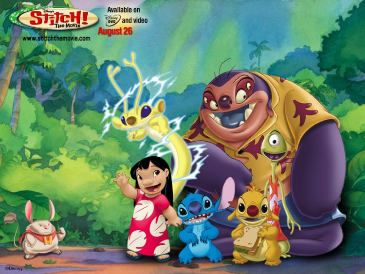 Wallpapers Cartoons Wallpapers Lilo Stitch Wallpaper N