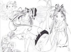 Wallpapers Art - Pencil Belldandy young