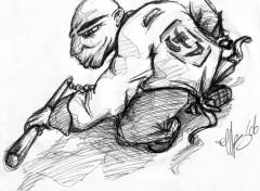Fonds d'écran Art - Crayon Chinois Kung-Fu