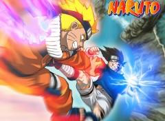Fonds d'écran Manga Naruto VS Sasuke...