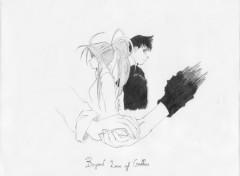 Wallpapers Art - Pencil Belldandy & Keichi