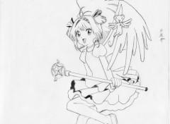 Wallpapers Art - Pencil Sakura & kiro