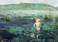 Fonds d'écran Art - Peinture dans l'étang