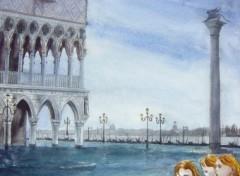 Fonds d'écran Art - Peinture venise céleste