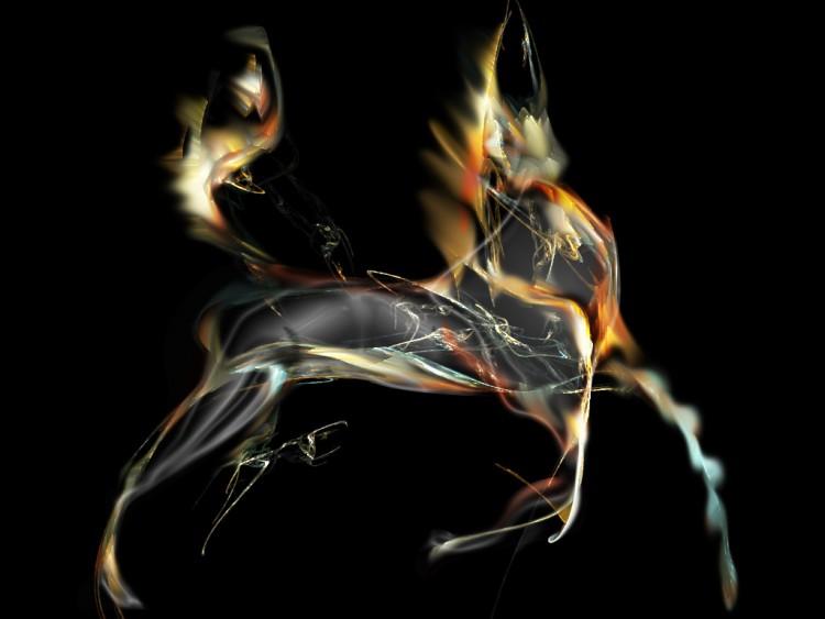 Fonds d'écran Art - Numérique Fractales, Kaleïdoscopes horse