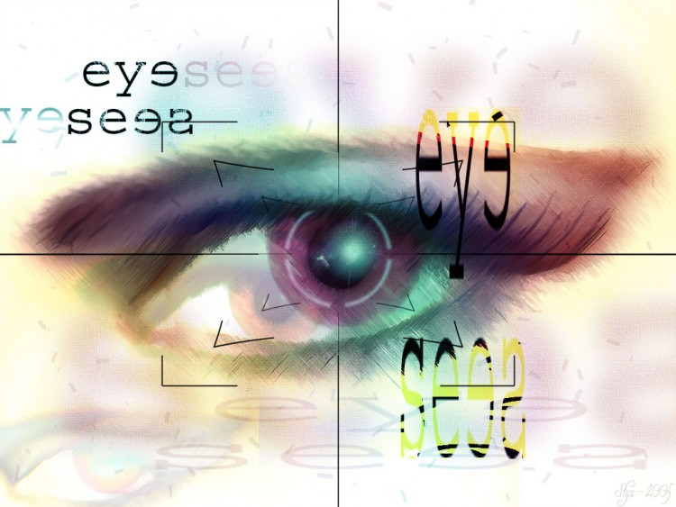 Fonds d'écran Art - Numérique Messages EYE SEES EYE