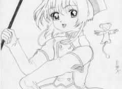 Wallpapers Art - Pencil Sakura et la carte du coeur