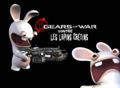 Wallpapers Video Games les lapin font la guerre aussi