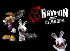 Wallpapers Video Games Rayman VS lapins