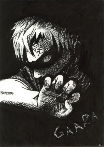 Wallpapers Art - Pencil Manga - Naruto Gaara