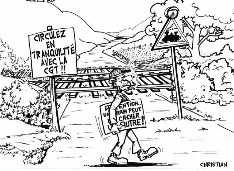 Fonds d'écran Humour Dessins Grèves à la SNCF