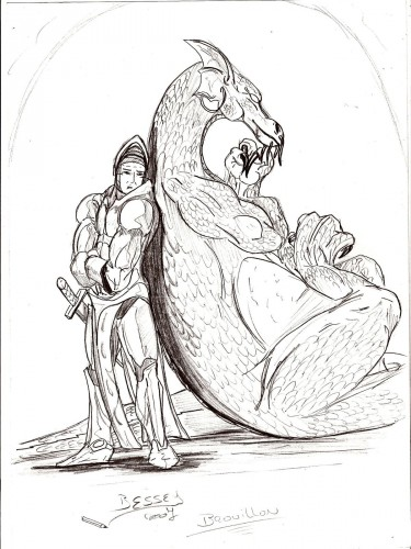 Fonds d'écran Art - Crayon Fantasy - Dragons L'union...