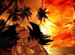 Wallpapers Manga Sunset GokuVegeta