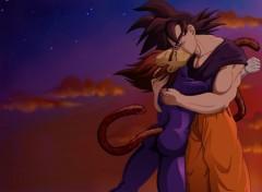 Wallpapers Manga Goku Kiss Vegeta